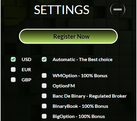 Choosing broker with BinaDroid binary options