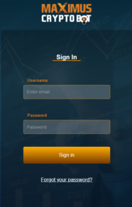maximus-cryptobot-login-page
